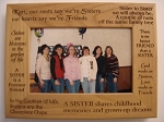 Sisters 4 x 6  Red Alder Picture Frame